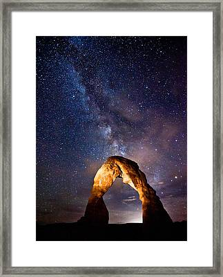 Delicate Light Framed Print