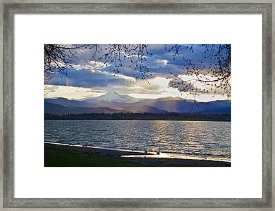 Delicate Light On The Twin Peaks Framed Print by James BO  Insogna