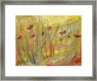 Framed Print featuring the painting Delicate Poppies by Dorothy Maier