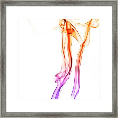 Delicate Smoke Abstract Framed Print