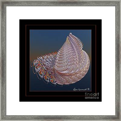 Delicate Wrap Framed Print by Leona Arsenault