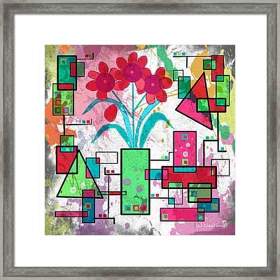 Delicately Floral Framed Print by Jan Steadman-Jackson