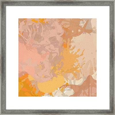 Delicately Peach Framed Print by Lourry Legarde