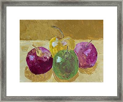 Delicious Apples Framed Print by Heidi Smith