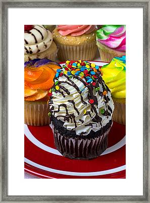 Delicious Cupcakes Framed Print by Garry Gay