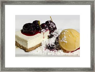 Delicious Dessert Framed Print by Sheldon Kralstein