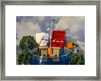 Delicious Fish Framed Print by Heather Applegate
