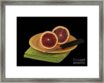 Delicious Juicy Blood Oranges Framed Print by Inspired Nature Photography Fine Art Photography