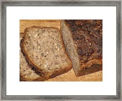 Delicious Lithuanian Multigrain Bread Framed Print by Ausra Huntington nee Paulauskaite