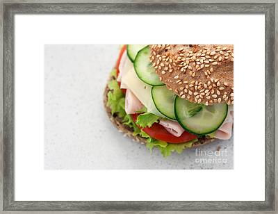 Delicious Sandwich Framed Print