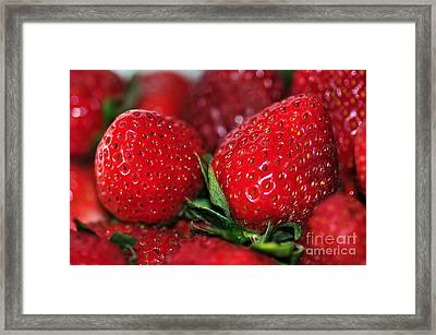 Deliciously Close Framed Print
