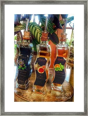 Delight With Vinegar Framed Print by Susan Garren