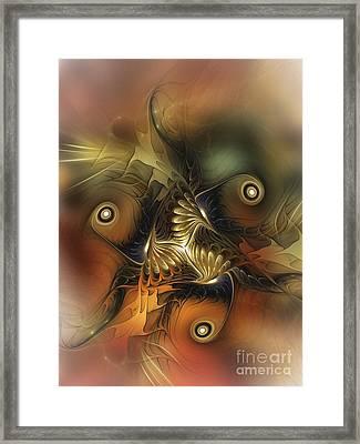 Delightful Awakening-abstract Art Framed Print by Karin Kuhlmann