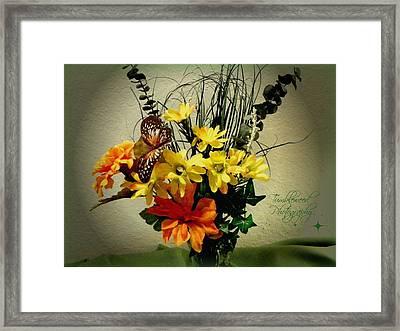 Delightful Framed Print by Carol Grenier