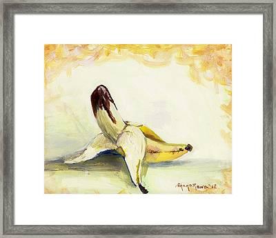 Delightfully Delectable 1 Banana Framed Print by Shana Rowe Jackson