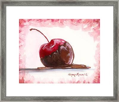 Delightfully Delectable 3 Cherry Framed Print