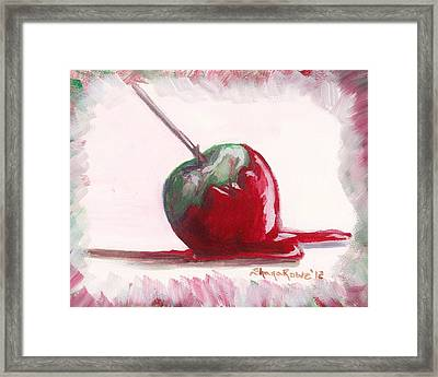 Delightfully Delectable 4 Candy Apple Framed Print by Shana Rowe Jackson