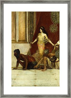 Delilah And The Philistines Framed Print by Jean Joseph Benjamin Constant
