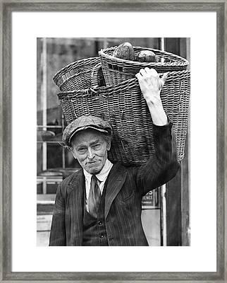 Delivering Baskets Of Bread Framed Print