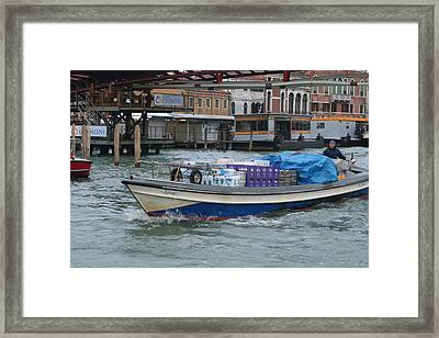Delivering The Goods Framed Print by Dick Willis