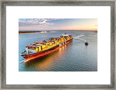Delivering The Goods Framed Print