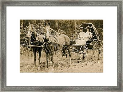 Delivering The Mail 1907 Framed Print by Floyd Russell