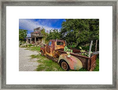 Delivery At The Stocktank Framed Print by Jeffrey W Spencer