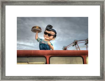 Delivery Boy Framed Print