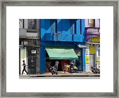 Delivery Boy - Sao Paiulo Framed Print by Julie Niemela