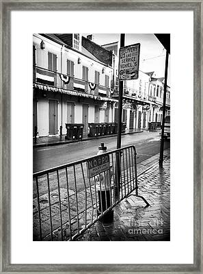 Delivery Vehicles Only Framed Print by John Rizzuto