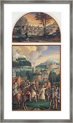Dellabate Niccol , Boiardo Writes Framed Print by Everett