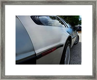 Delorean Dmc-12 Framed Print by Lance Vaughn