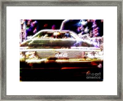 Delorean Fantasy Framed Print by Renee Trenholm