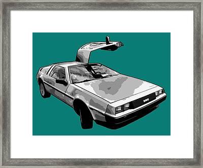 Delorean Pop Framed Print by Lance Vaughn