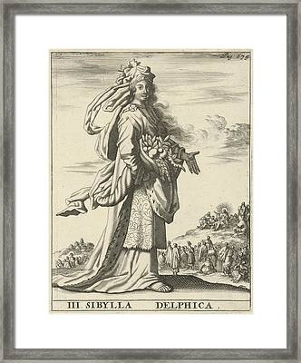 Delphic Sibyl, Print Maker Jan Luyken, Timotheus Ten Hoorn Framed Print