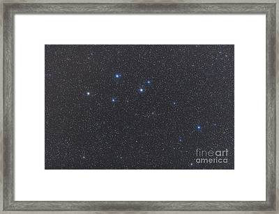 Delphinus Constellation On A Hazy Night Framed Print by Alan Dyer
