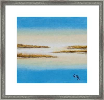Delta Autumn Reeds Framed Print