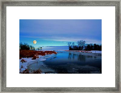 Delta Beach Channel Framed Print