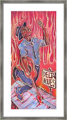 Delta Blues Framed Print by Robert Ponzio