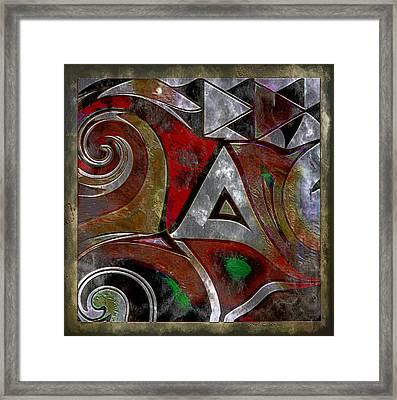 Delta Inspired Abstract Framed Print