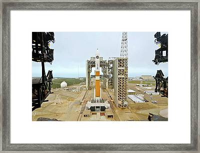 Delta Iv Rocket On Launch Pad Framed Print