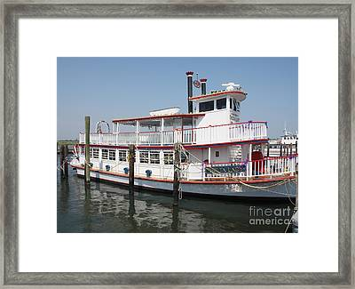 Delta Lady Riverboat Out Of Captree Framed Print