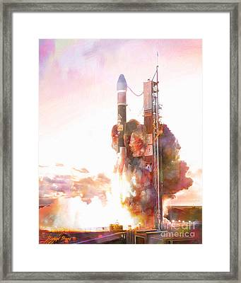 Delta Launch Framed Print