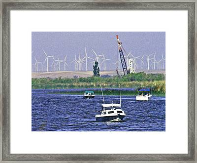 Delta Loop Fishing Framed Print by Joseph Coulombe