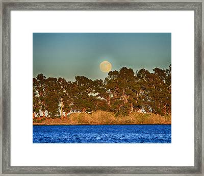 Delta Moonrise Framed Print