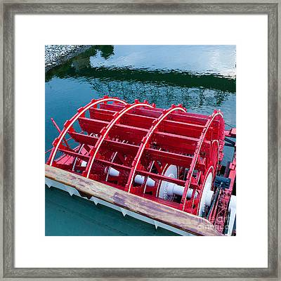 Delta Queen Paddle Wheel Framed Print by Kay Pickens