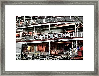 Delta Queen Up Close Framed Print