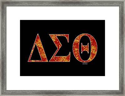 Framed Print featuring the digital art Delta Sigma Theta - Black by Stephen Younts