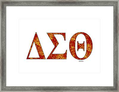 Framed Print featuring the digital art Delta Sigma Theta - White by Stephen Younts