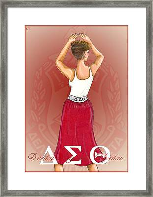Delta Sigma Theta Framed Print by BFly Designs